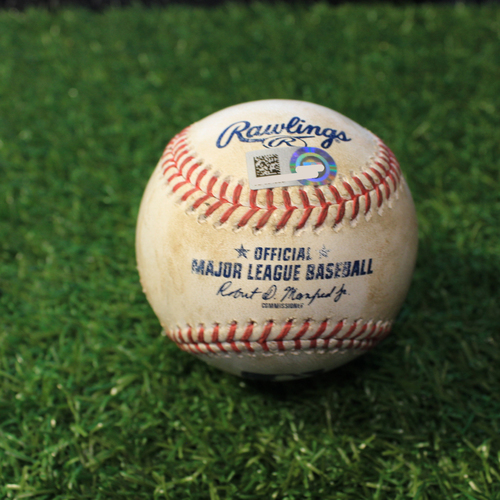 Photo of Game-Used Baseball: Yolmer Sanchez 112th Career Double (CWS@KC 9/6/20)