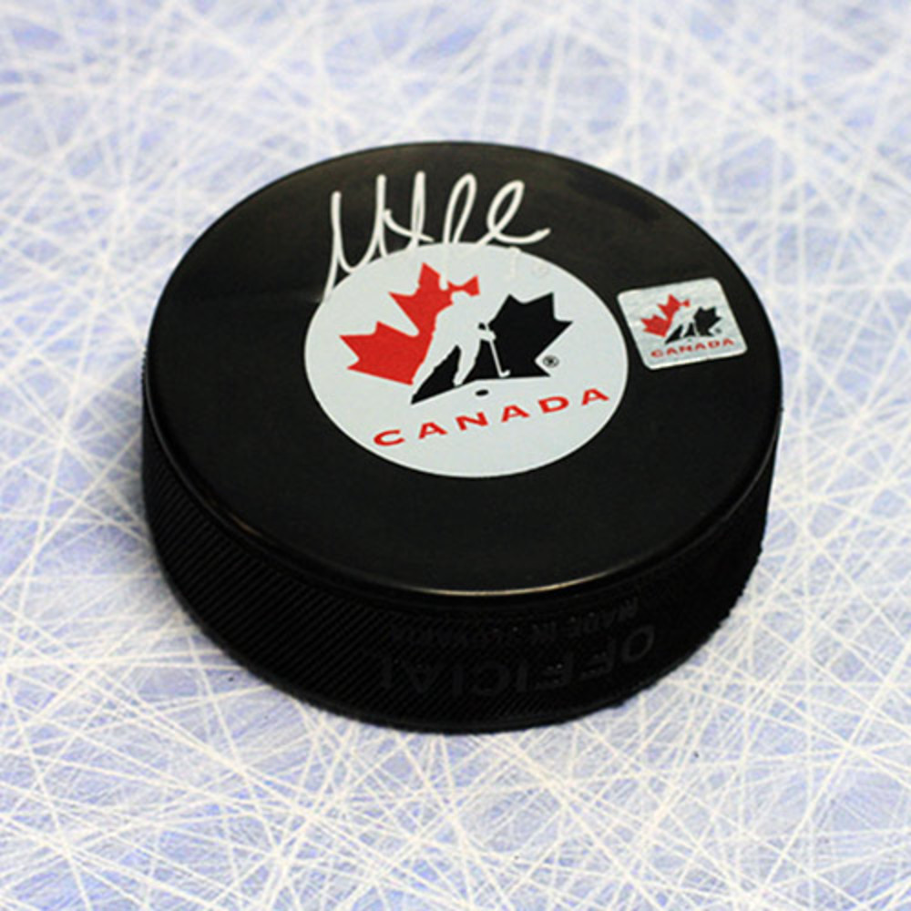 Martin Brodeur Team Canada Autographed Olympic Hockey Puck