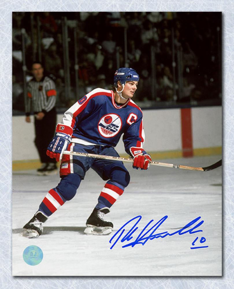 Dale Hawerchuk Winnipeg Jets Autographed Captain 8x10 Photo