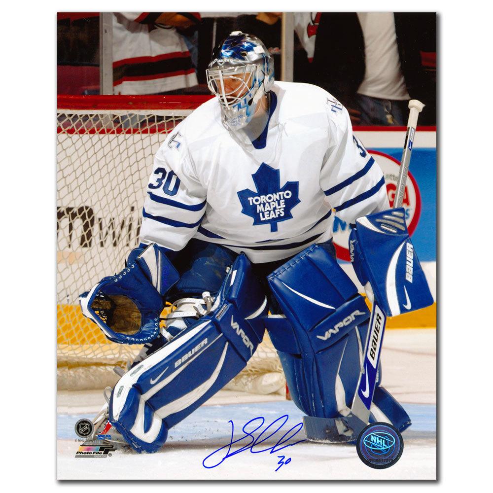 Jean-Sebastien J.S. Aubin Toronto Maple Leafs GLOVE SAVE Autographed 8x10