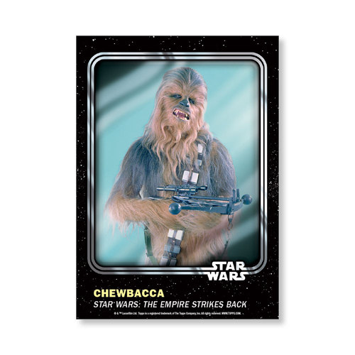 Chewbacca 2016 Star Wars Card Trader Base Poster - # to 99