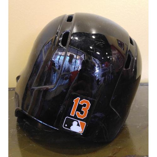 Manny Machado - Batter's Helmet: Spring Training Game-Used