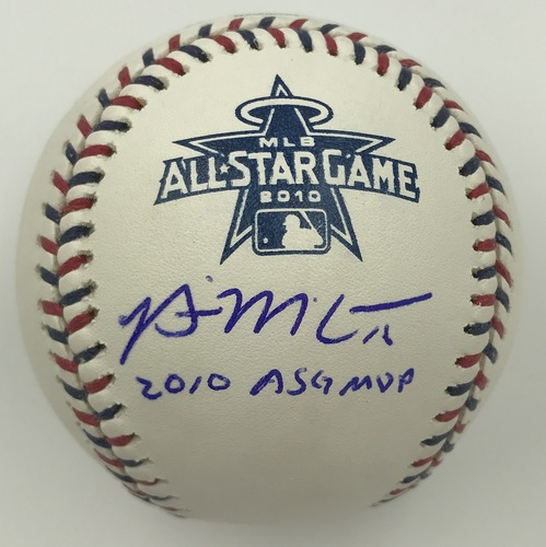 "Photo of Brian McCann ""2010 ASG MVP"" Autographed 2010 All-Star Game Logo Baseball"