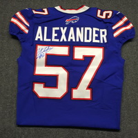 BILLS - LORENZO ALEXANDER SIGNED AUTHENTIC BILLS JERSEY - SIZE 42