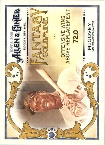 Photo of 2018 Topps Allen and Ginter Fantasy Goldmine #FG39 Willie McCovey