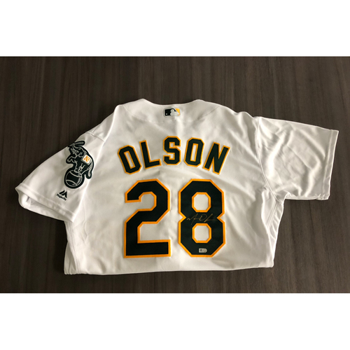 Photo of Matt Olson Autographed Jersey