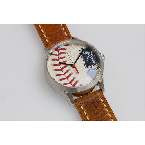 Photo of Tokens & Icons Colorado Rockies 20 Year Anniversary Game Used Baseball Watch