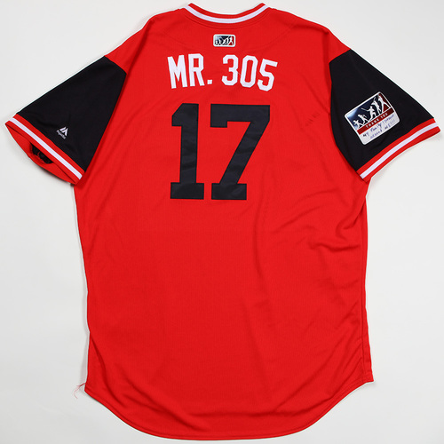 "Photo of Yonder ""Mr. 305"" Alonso Cleveland Indians Game-Used Jersey 2018 Players' Weekend Jersey"