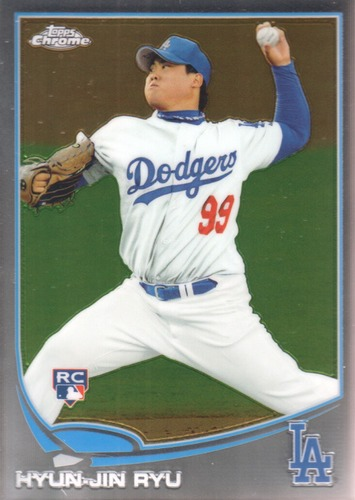 Photo of 2013 Topps Chrome #25A Hyun-Jin Ryu Rookie Card