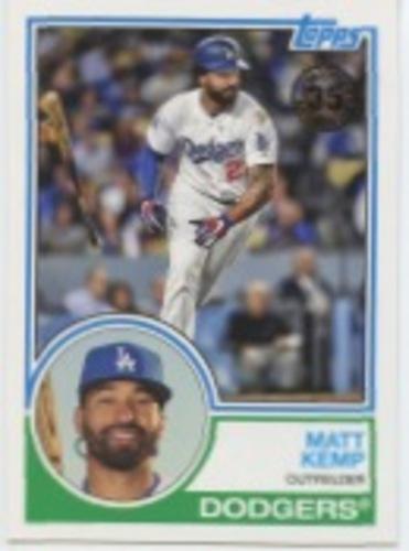 Photo of 2018 Topps Update '83 Topps #8339 Matt Kemp