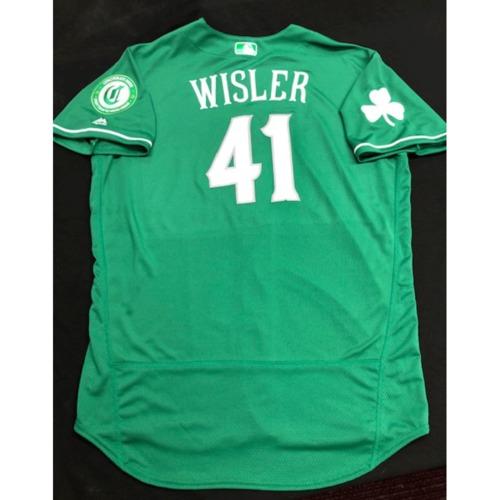 Photo of Matt Wisler -- Team-Issued Jersey -- 2019 St. Patrick's Day