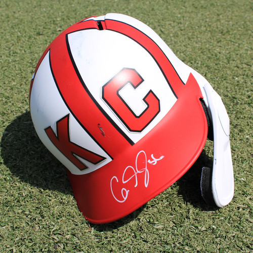 Salute to the Negro Leagues Autographed Helmet: Cam Gallagher (Size 7 1/2 - MIN at KC - 6/23/19)