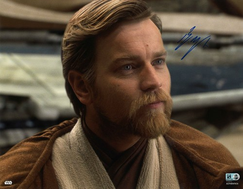 Ewan McGregor As Obi-Wan Kenobi 11X14 AUTOGRPAHED IN 'BLUE' INK PHOTO