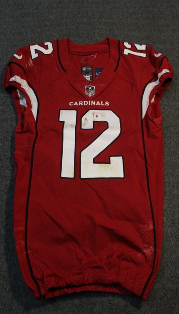 London Games - Cardinals John Brown game worn Cardinals jersey (October 22, 2017)