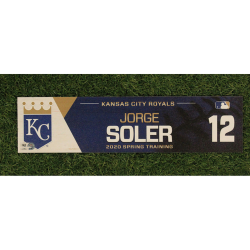 Game-Used Spring Training Locker Tag: Jorge Soler #12