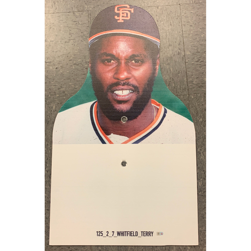 Photo of Giants Community Fund - Celebrity Cutouts - Terry Whitfield