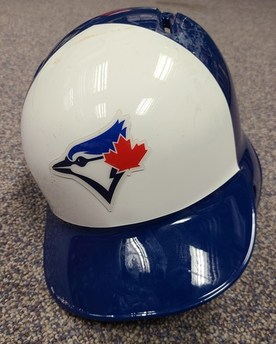 Photo of Authenticated Game Used Helmet: #13 Lourdes Gurriel Jr. (Jul 3, 2018: 1-for-4 with 1 HR, 1 Run and 3 RBIs). Size 7 1/2.