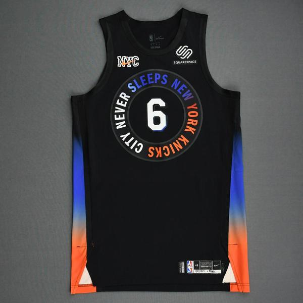 Image of Elfrid Payton - New York Knicks - Game-Worn City Edition Jersey - 2020-21 NBA Season