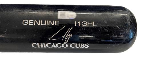 Photo of Ian Happ Game-Used Cracked Bat - Dakota Hudson to Ian Happ, Groud Out, Top 1 - Cubs at Cardinals - 10/1/21
