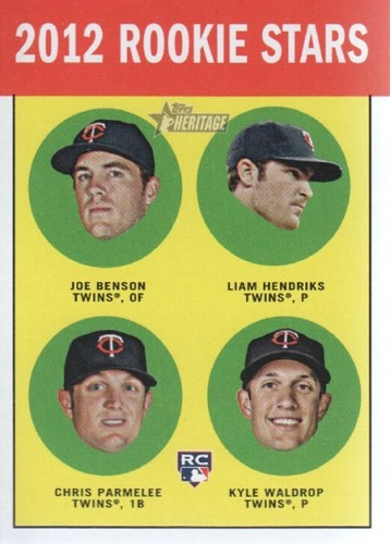 Photo of 2012 Topps Heritage #333 Joe Benson RC/Liam Hendriks RC/Chris Parmelee RC/Kyle Waldrop (RC)