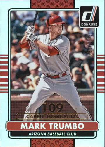 Photo of 2015 Donruss Stat Line Career #47 Mark Trumbo/109