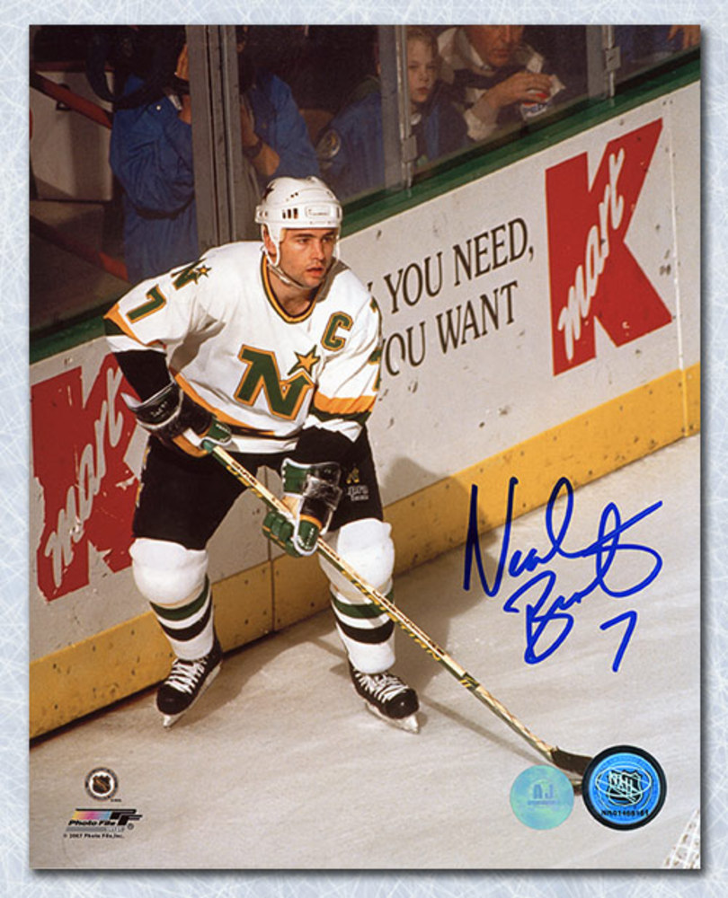 Neal Broten Minnesota North Stars Autographed Captain 8x10 Photo