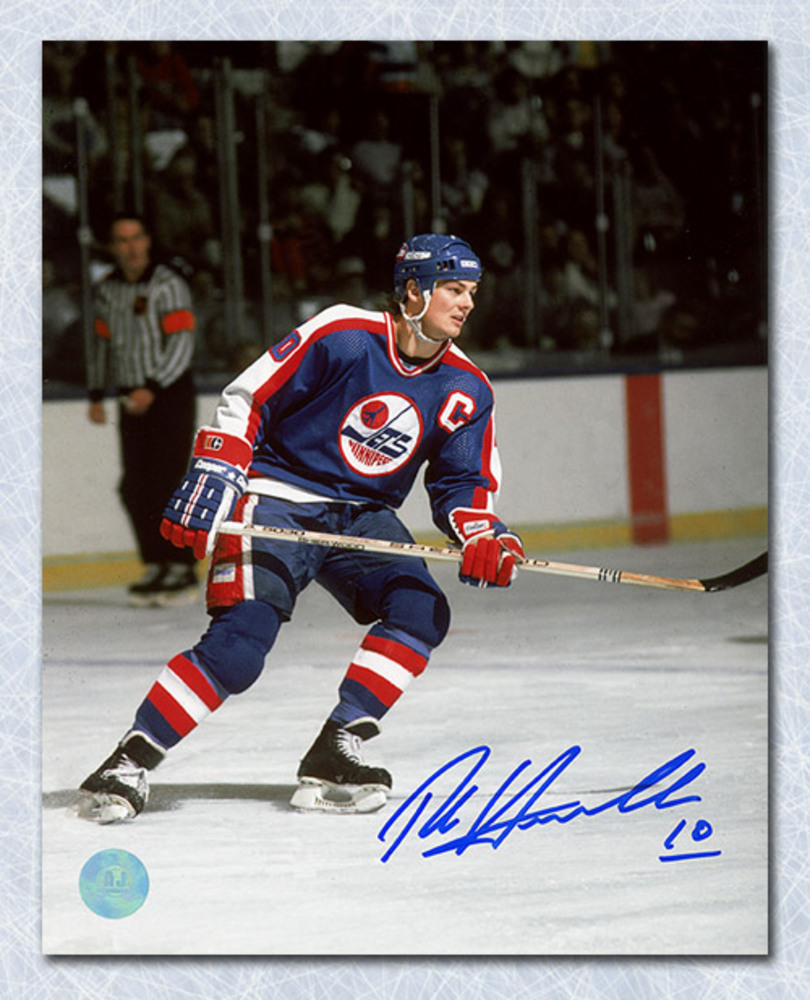 Dale Hawerchuk Winnipeg Jets Autographed Captain 16x20 Photo