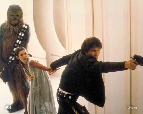 Han Solo, Princess Leia Organa and Chewbacca
