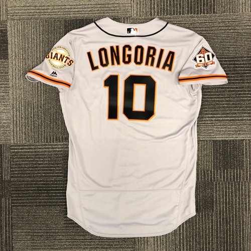 Photo of San Francisco Giants - 2018 Holiday Deal! 2018 Team Issued Road Jersey - #10 Evan Longoria - size 44