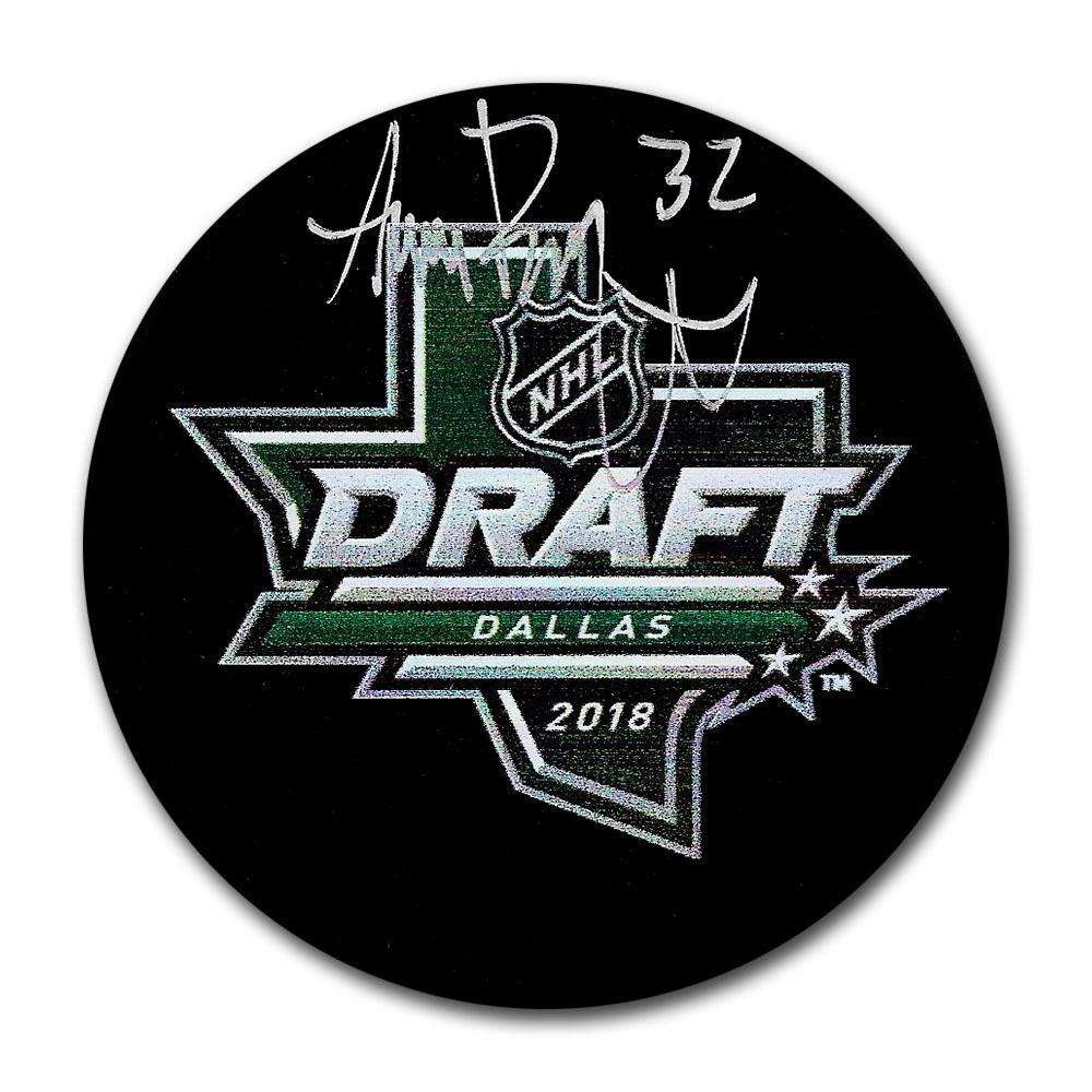 Adam Boqvist Autographed 2018 NHL Entry Draft Puck