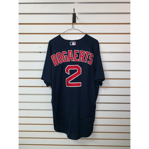 Photo of Xander Bogaerts Game Used June 10, 2016 Game Used Road Alternate Jersey - 4 for 5, Home Run, 4 RBIs