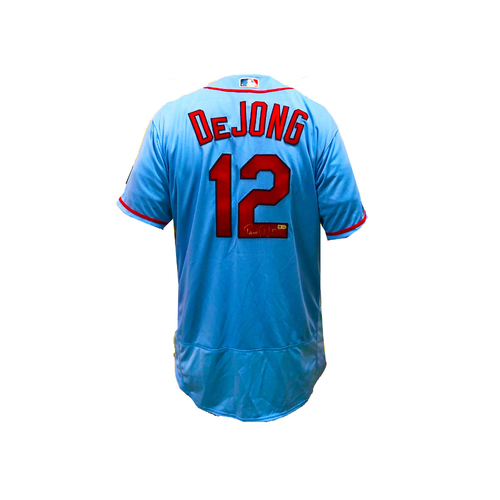 Photo of Paul DeJong Autographed Cardinals Blue Authentic Jersey