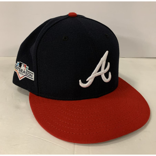 Photo of Freddie Freeman Game Used Postseason Cap - Worn 10/3/19 - Size 7 1/2