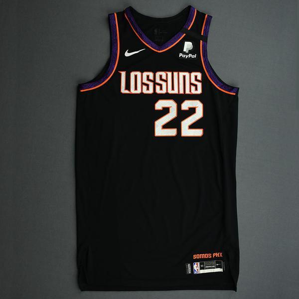 Image of Deandre Ayton - Phoenix Suns - Game-Worn 2nd Half City Edition Jersey - Double-Double - 2019-20 NBA Season