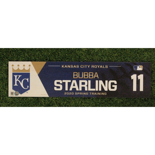 Photo of Game-Used Spring Training Locker Tag: Bubba Starling #11