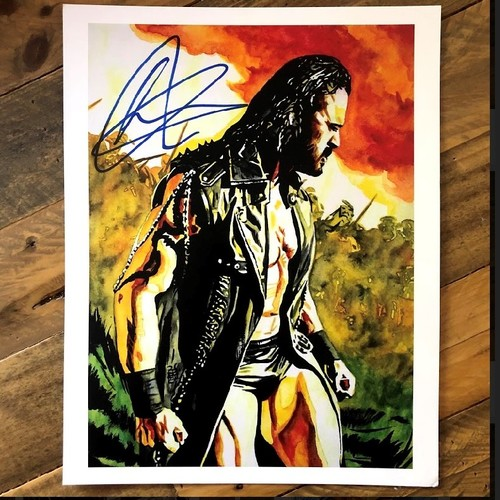 Photo of Drew McIntyre SIGNED Rob Schamberger 11 x 14 Art Print (2021)