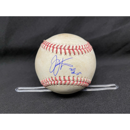 Photo of Joey Votto *Game-Used, Autographed & Inscribed* Baseball from 300th Career HR Game - Wade Miley to Anthony Rizzo (Ball in Dirt) -- 04/30/2021 - CHC vs. CIN - Top 5