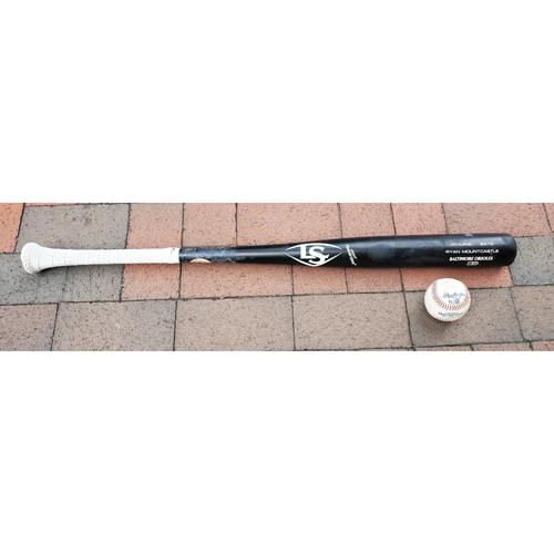 Photo of Ryan Mountcastle: 2021 Game-Used Broken Bat and Baseball Combo