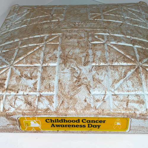 Photo of Childhood Cancer Awareness Game-Used Second Base (Innings 1 - 11) - Mariners @ D-backs 9/5/2021