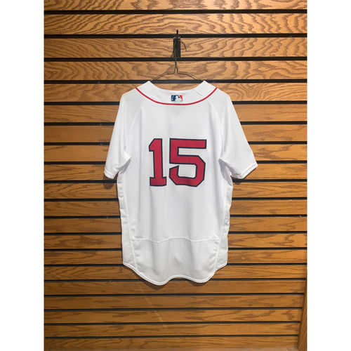 Photo of Dustin Pedroia Team Issued 2018 Postseason Home Jersey