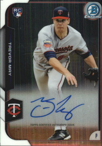 Photo of 2015 Bowman Chrome Rookie Autographs #BCARTM Trevor May