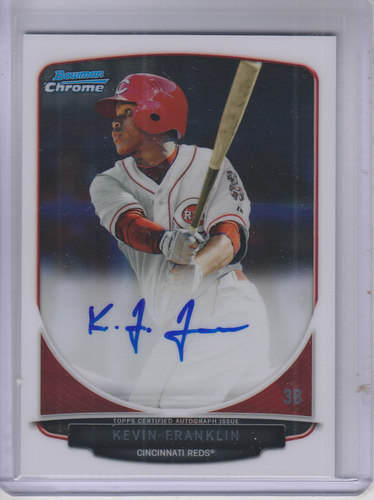 Photo of 2013 Bowman Chrome Draft Draft Pick Autographs #KF Kevin Franklin