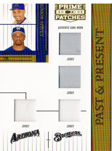 Photo of 2005 Prime Patches Past and Present Double Swatch Combo #10 Junior Spivey J-J-J-J/150