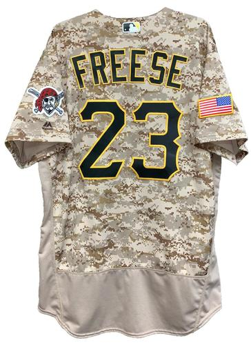 Photo of David Freese 2016 Game-Used Camo Jersey