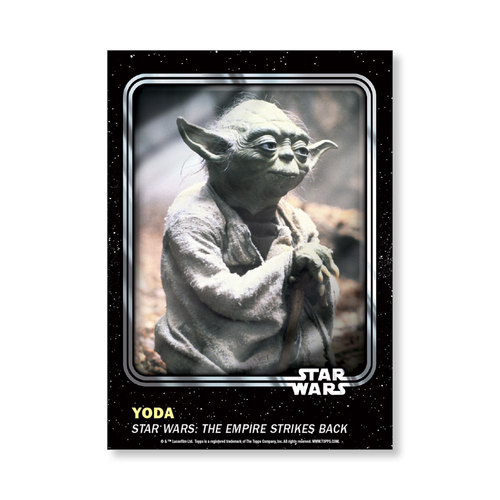 Yoda 2016 Star Wars Card Trader Base Poster - # to 99