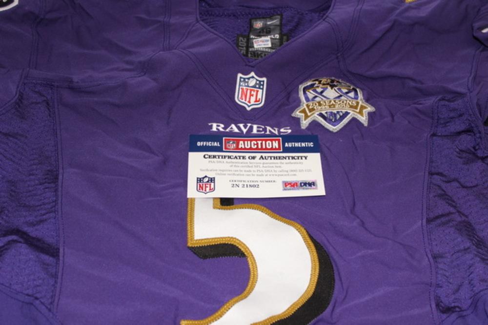 NFL Auction | STS - RAVENS JOE FLACCO GAME WORN RAVENS JERSEY ...