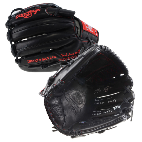 Photo of Max Scherzer Washington Nationals Autographed Rawlings Game Model Glove with 2016/2017 CY Stat Inscriptions - #1 In a L. E. of 31