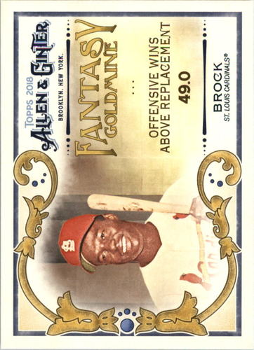 Photo of 2018 Topps Allen and Ginter Fantasy Goldmine #FG43 Lou Brock