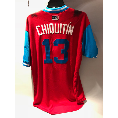 "Photo of Philadelphia Phillies 2018 Little League Classic Game-Used Jersey - Asdrubal ""Chiquitin"" Cabrera - 8/19/2018"