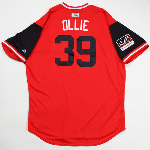 "Photo of Oliver ""Ollie"" Perez Cleveland Indians Game-Used Jersey 2018 Players' Weekend Jersey"